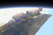3D visualization of the Australian smoke plumes. Image: NASA.