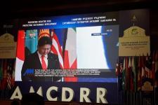 Prime Minister of Mongolia Ukhnaagiin Khürelsükh opens 2018 AMCDRR in Ulaanbaatar.