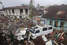 Basey, Samar province in the Philippines after Typhoon Yolanda on November 8, 2013.