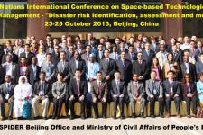 Participants of the UN-SPIDER Beijing Conference on Disaster Risk Identification