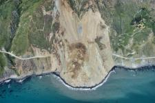 Air photo of the Mud Creek landslide, taken on May 27, 2017.