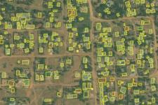 Open Building Dataset over Musoma, Tanzania. Image: Bing Maps.
