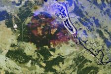 Sentinel-2 image of fire. Image: ESA