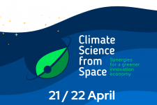 Banner for the Climate Science from Space conference. Image: European Union.