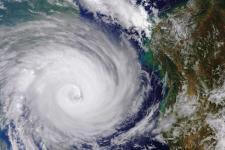 Cyclone Idai west of Madagascar in March 2019. Image: ESA.