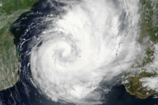 Tropical Cyclone Dineo 14 February 2017. Image: NASA Earth Observatory.