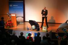 Juan Carlos Villagran of UN-SPIDER at the UN talks.