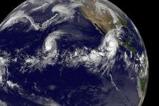 El Niño-influenced hurricane Olaf approaching Mexico (courtesy NASA)
