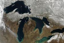 Satellite Imagery of the Great Lakes. Image: NASA/GSFC