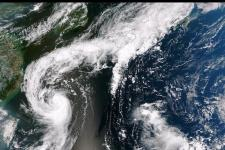 An image of Tropical Storm Toraji over Japan taken by the Suomi NPP satellite on 2 September 2013. Image: NASA/CC BY 2.0