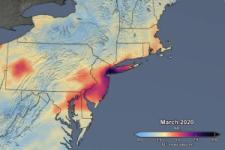 NASA satellite measurements on air pollution. Image: NASA