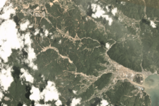 Flooding in Japan during July 2018 captured by PlanetScope. Image courtesy of Planet Labs, Inc CC-NC-BY