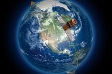 An artistic representation of the RADARSAT Constellation Mission. Image: Canadian Space Agency.