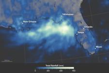 Map image courtesy of NASA Earth Observatory by Joshua Stevens, using IMERG data provided courtesy of the Global Precipitation Mission (GPM) Science Team's Precipitation Processing System (PPS). Caption by Pola Lem.