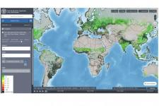 Screenshot of the FAO Hand-in-Hand geospatial platform.