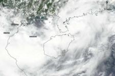 Typhoon Bebinca captured by NASA-NOAA's Suomi NPP satellite as it approaches Viet Nam on 14 Aug. Image:NASA/NOAA Worldview