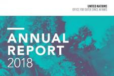 Cover of the United Nations Office for Outer Space Affairs (UNOOSA) 2018 Annual Report. Image: UNOOSA.