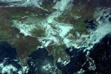 FY-4A satellite capturing the weather over South-east Asia.  Source: National Satellite Meteorological Center