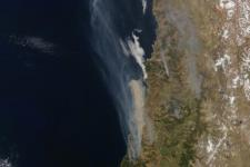 Forest fires in Chile. Image courtesy of NASA.