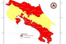 Costa Rica regions in alert. Image: CNE
