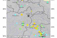 Hindu Kush Region of Afghanistan struck by 7.5 earthquake on 26 October (Image: USGS).