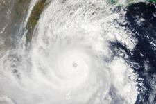Tropical cyclone Fani over the eastern coast of India on 2 May 2019. Image: NASA.