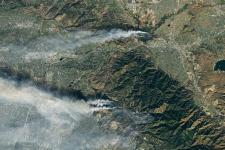 Fires in Southern California. Image: Nasa Earth Observatory.