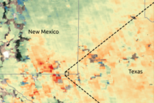 Methane concentrations over the Permian Basin. Image: GHGSat