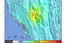 Image courtesy of the USGS, ShakeMap.