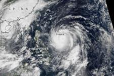 Typhoons Sarika and Haima. Image: NASA