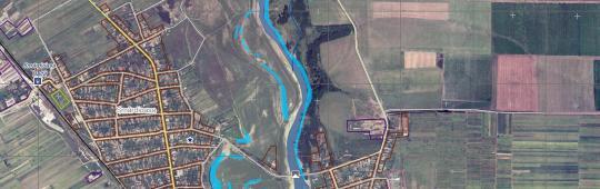 Flood Delineation Map of Bragadiru, Romania on 20 April 2014