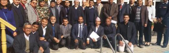 Mission team and counterparts during the Institutional Strengthening Mission to Nepal in December 2018.