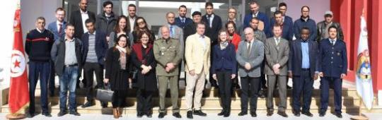 Participants at the workshop organized as part of the UN-SPIDER Technical Adivsory Mission to Tunisia, 4-6 March 2020.