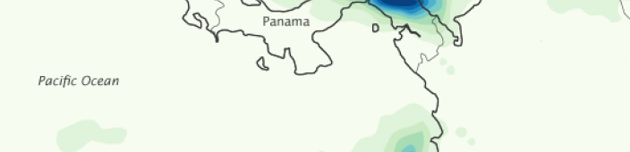 Panama's map. Courtesy of NASA