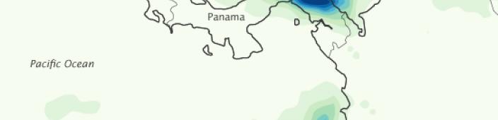 Panama's map. Courtesy of NASA