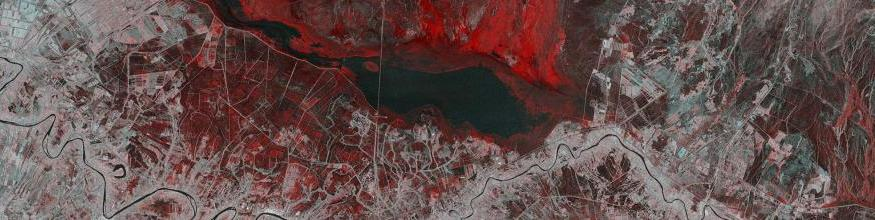This Copernicus Sentinel-1 image combines two acquisitions over the same area of eastern Iraq, one from 14 November 2018 before heavy rains fell and one from 26 November 2018 after the storms. The image reveals the extent of flash flooding in red, near the town of Kut. Image: modified Copernicus Sentinel data (2018), processed by ESA, CC BY-SA 3.0 IGO.