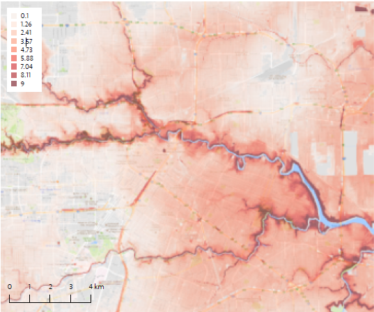 Actual flood maps